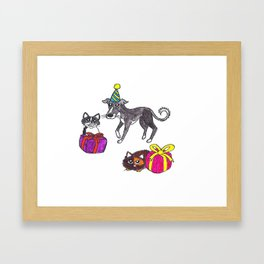 Pet party Framed Art Print