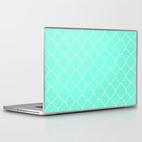 moroccan Laptop & iPad Skins featuring Mint Moroccan by Beautiful Homes