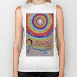Rainbow Moon Vibrations Biker Tank
