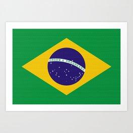 Brazil Flag (Canvas Look) Art Print