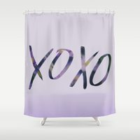 xoxo Shower Curtains featuring XOXO by Leah Flores