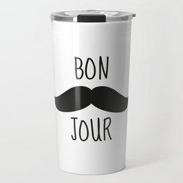 Moustache Bonjour Travel Mug