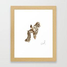 Jiraffe Love Framed Art Print