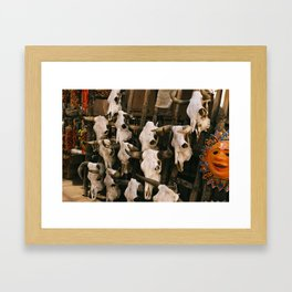cow skulls Framed Art Print