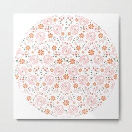 Sweet Peony Floral Metal Print