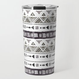 Native American Ornaments Watercolor Pattern Brown Travel Mug