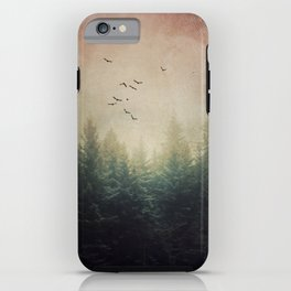 The Forest's Voice - surreal forest photo, Nature Photography, Ethereal Atomspheric Dreamy iPhone Case