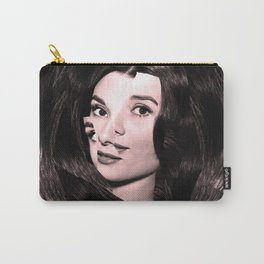 Audrey Hepburn Abstract Carry-All Pouch