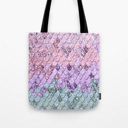 Mermaid Scales with Unicorn Girls Glitter #1 #shiny #pastel #decor #art #society6 Tote Bag