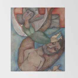 Flying together lovers Throw Blanket