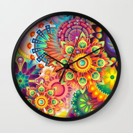 Funky Retro Pattern Abstract Wall Clock