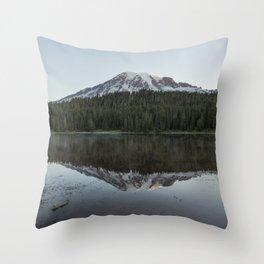 Sunrise at Reflection Lake - Mount Rainier Throw Pillow