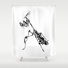 Violin Mantis Shower Curtain