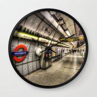 velvet underground Wall Clocks featuring Underground by David Pyatt