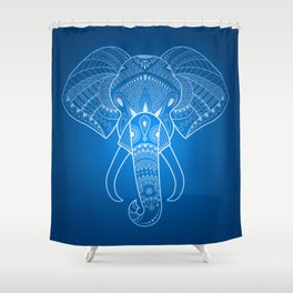 Serious Elephant Two Shower Curtain