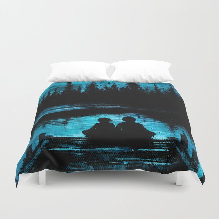 Sitting On The Dock Of The Bay Duvet Cover By Madlove Society6