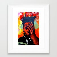 basquiat Framed Art Prints featuring Basquiat  by jack shaftoe
