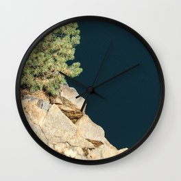 Tree And Rock And Water Wall Clock