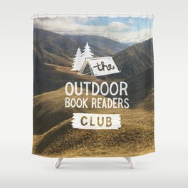 The Outdoor Book Readers Club Shower Curtain
