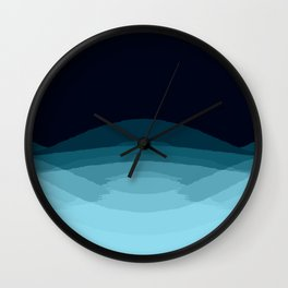Teal Blue Ombre Wall Clock