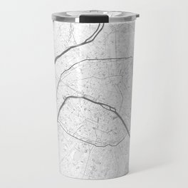 The Map of Paris Line Drawing Travel Mug