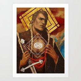 Alistair Theirin Cancer Zodiac Card Dragon Age Art Print