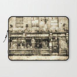 The Golden Lion Pub York Vintage Laptop Sleeve