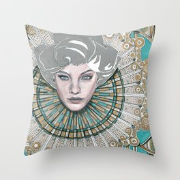 Many Faces - 2 Throw Pillow
