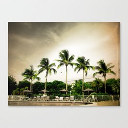 Palms by the Pool Canvas Print