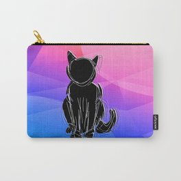 Black Cat - geometric background Carry-All Pouch