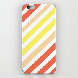 Red Yellow Lines iPhone Skin