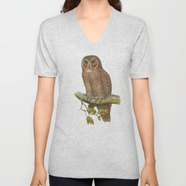 Lonely Owl Realistic Painting Unisex V-Neck