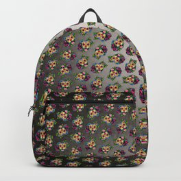 Smiling Pit Bull in Fawn - Day of the Dead Pitbull Sugar Skull Backpack