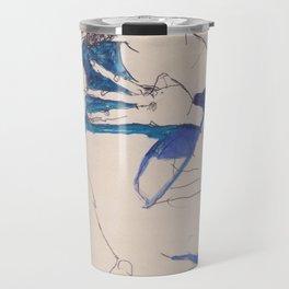 "Egon Schiele ""Gustav Klimt im blauen Malerkittel"" Travel Mug"