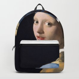 Girl with a pearl earring Backpack