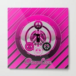 One Love (Pink) Metal Print