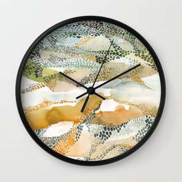 Reflection dream; earthen Wall Clock