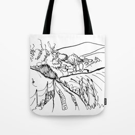 Little Village with Church Tote Bag