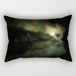 Pyramids Green Rectangular Pillow