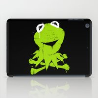 kermit iPad Cases featuring Pochoir - Kermit by Krikoui