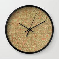typo Wall Clocks featuring Typo by Steve W Schwartz Art