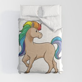 Horse with Rainbow Colors Comforters