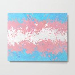 Trans Pride Splatter Flag Metal Print