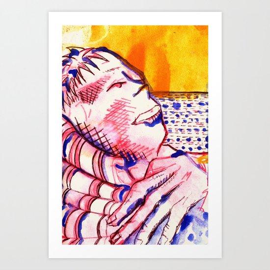 Reclining Sam Art Print