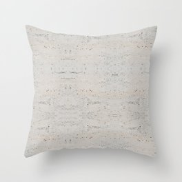 White Abstract Marble Pattern Throw Pillow