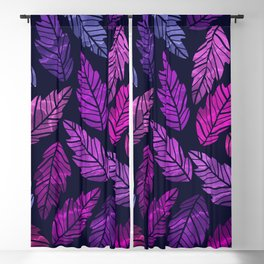 Colorful leaves III Blackout Curtain