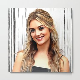 Billie Lourd - Celebrity Art Metal Print