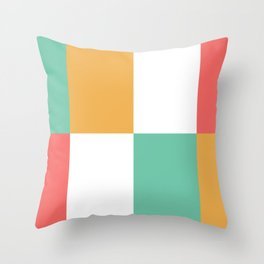 Minimal Abstract Lucite green, Coral, Grey, Honey, and White 14 Throw Pillow