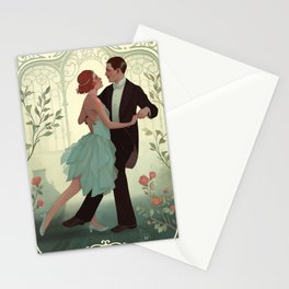 Art nouveau dance Stationery Cards