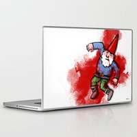 gnome Laptop & iPad Skins featuring Crushed Gnome by Stephan Brusche